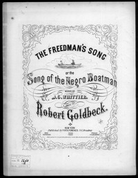 The Freedman's, or negro boatman's song [sheet music]