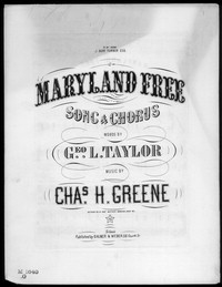 Maryland free [sheet music]