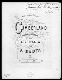 The Cumberland [sheet music]