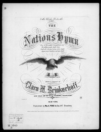 The Nation's hymn [sheet music]