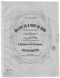 O give us a navy of iron [sheet music]