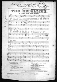 The Rebellion [sheet music]