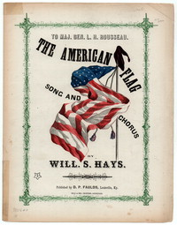 The American flag [sheet music]