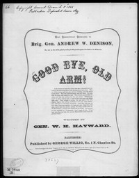 Good-bye old arm [sheet music]