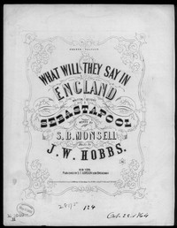 What will they say in England [sheet music]