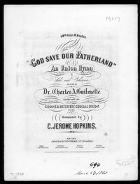 God save our fatherland [sheet music]
