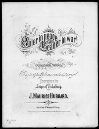 The Ruler in peace and the leader in war [sheet music]