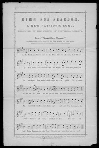Hymn for freedom [sheet music]