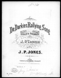 De darkies rallying song [sheet music]