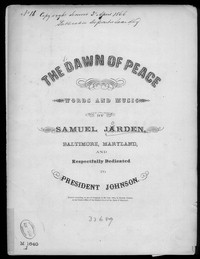 The Dawn of peace [sheet music]