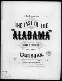 The Last of the Alabama [sheet music]