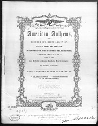 The American jubilee; Freedom triumphant;The American freedmen; [sheet music]