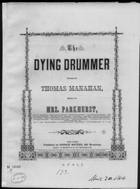The Dying drummer [sheet music]
