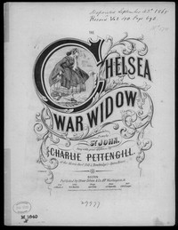 The Chelsea war widow [sheet music]