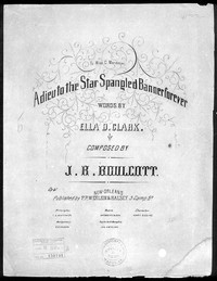 Adieu!! to the star spangled banner for ever [sheet music]