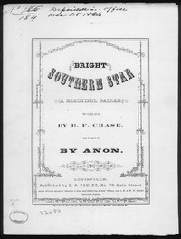 Bright southern star [sheet music]