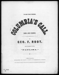 Columbia's call [sheet music]