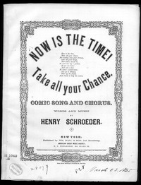 Now is the time [sheet music]