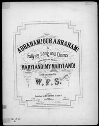 Abraham, our Abraham [sheet music]