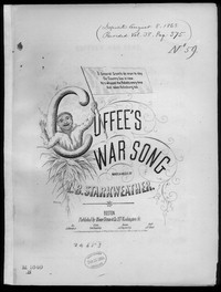 Cuffee's war song [sheet music]