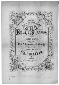 Bells of Shandon [sheet music]