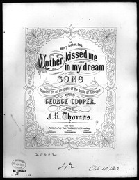 Mother kissed me in my dream [sheet music]