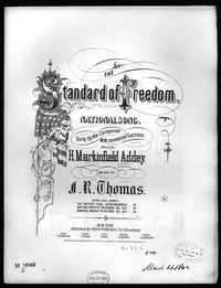 The Standard of freedom [sheet music]
