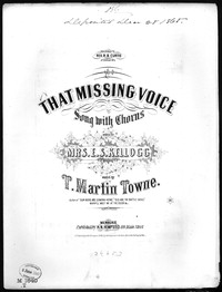 That missing voice [sheet music]