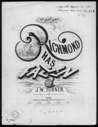 Richmond has fallen [sheet music]