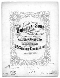 Volunteer song [sheet music]