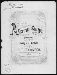 The American ensign [sheet music]