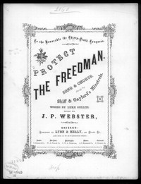Protect the freedman [sheet music]