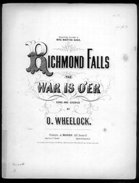 Richmond falls, the war is o'er [sheet music]