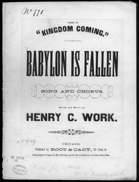 Babylon is fallen! [sheet music]