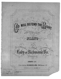 God will defend the right [sheet music]