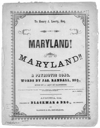 Maryland, my Maryland [sheet music]