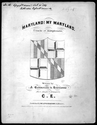 Maryland, my Maryland! [sheet music]