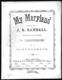 My Maryland [sheet music]