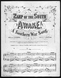 Awake! A southern war song [sheet music]