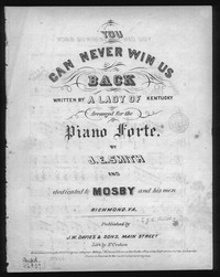 You can never win us back [sheet music]