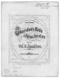 Sheridan's ride from Winchester [sheet music]