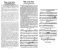 Music of the Orient: Recent Discoveries in Egypt [clipping]