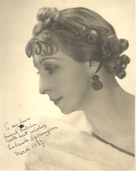 Katherine Dunham's first ballet teacher, Ludmila Speranzeva [photograph]