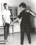 Katherine Dunham and student at Southern Illinois University, c.1960s [photograph]