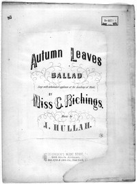 Autumn leaves [sheet music]