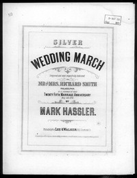 Silver wedding march [sheet music]