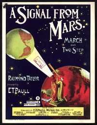 A signal from Mars [sheet music]