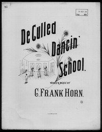 De Culled dancin' school [sheet music]