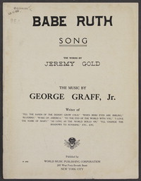 Babe Ruth [sheet music]