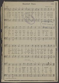 Baseball days [sheet music]